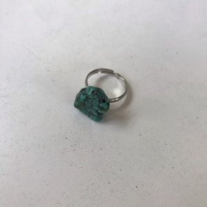 Turquoise in the Rough Adjustable Ring
